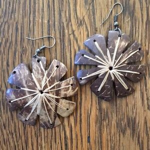 Handmade bark & twine earrings